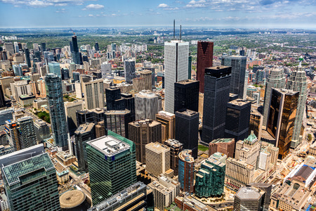 Aerial view of the Toronto skyline photo
