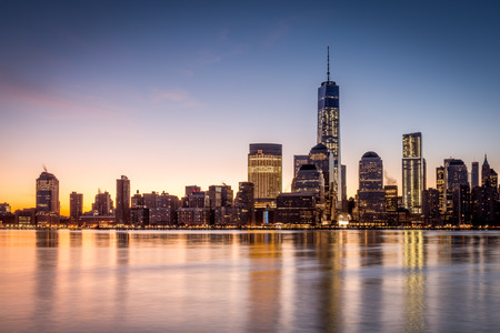 financial freedom: Sunrise over the Lower Manhattan