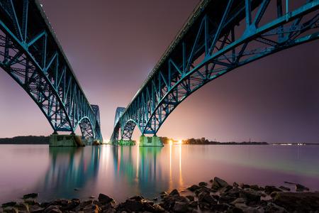 South Grand Island Bridge spaning Niagara River in Upstate New York
