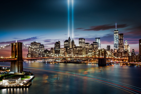 Tribute in Light memorial on September 11, 2014 in  New York