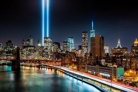 9 11: Tribute in Light memorial on September 11, 2014 in  New York