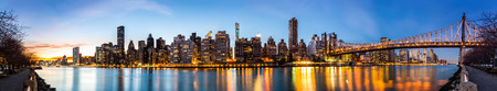 roosevelt: Manhattan panorama and Queensboro bridge as viewed from Roosevelt Island