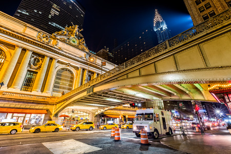 42nd: Pershing Square, in Manhattan, New York City at the intersection of Park Avenue and 42nd Street in front of Grand Central Terminal
