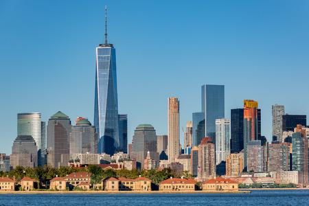 Downtown New York skyline Imagens