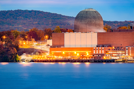 nuclear plant: Nuclear reactor on the Hudson River, north of New york City Editorial