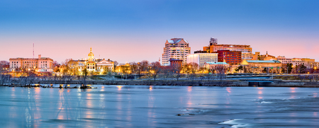 capital: Trenton skyline panorama at dawn. Trenton is the capital of the US state of New Jersey. Stock Photo