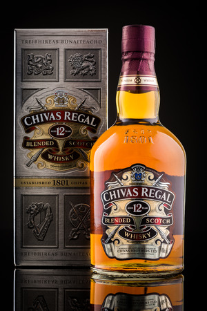 12 year old: Chivas Regal box and whisky bottle. Chivas Regal is the market-leading scotch whisky 12 years and above in Europe and Asia Pacific.