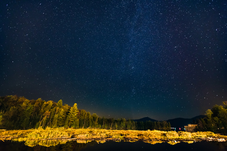 placid: Starry night in Lake Placid, Upstate New York