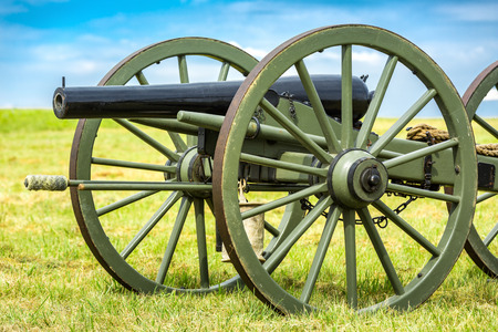 gettysburg battlefield: Old american civil war cannon on the Gettysburg battlefield. Stock Photo