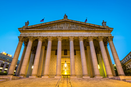 center court: The public building of New York State Supreme Court located in the Civic Center neighborhood of Lower Manhattan in New York City Stock Photo