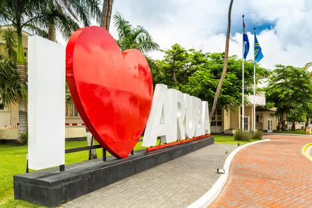 aruba: Aruban parliament building, in Oranjestad, the capital of the state.