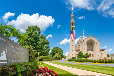 Basilica of the National Shrine of the Immaculate Conception in Washington DC. The Shrine is the largest Catholic church in North America and in the top ten of the largest churches worldwide