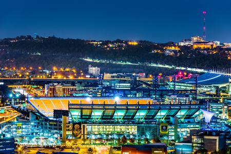 피트 츠 부르그 - 2016 년 11 월 10 일 : 하인즈 필드 경기장. 하인즈 필드 경기장은 피츠버그 스틸러스 (Pittsburgh Steelers)와 피츠버그 팬서스 (Pittsburgh Panthers