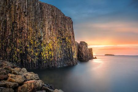 Sugandisey, the basalt island, near Stykkisholmur, Iceland Stock Photo