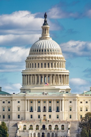 United States Capitol aka The Capitol Building, is the home of the United States Congress, and the seat of the legislative branch of the U.S. federal government. Banque d'images - 115066794