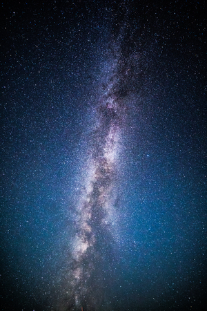 Milky Way and starry sky background