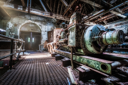 Generator area under an abandoned psychiatric hospital (demolished in 2015) Banque d'images - 120564158