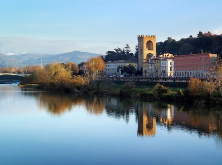 tuscania: Porta San Niccolo, St. Nicholas Gate, Florence, Arno, Italy
