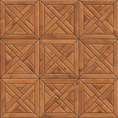 Seamless texture of mosaic wooden parquet. High resolution pattern of natural wood material