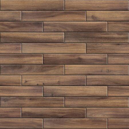 Nahtlose Textur aus gestreiftem Holzparkett. Hochauflösendes Muster aus dunklem Holz Standard-Bild