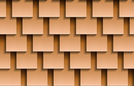 Seamless texture of beige shingles roof top background. Repeating pattern of wooden square roof tiles Zdjęcie Seryjne