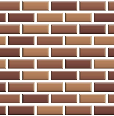 Seamless texture of red brick wall. Repeating pattern of brown stone with white seam background