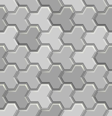 Seamless texture of gray concrete pavement tiles. 3D repeating pattern of street paving background Zdjęcie Seryjne