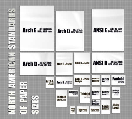 Full set of American paper sheets standards