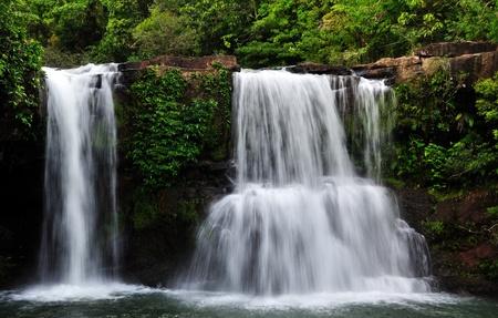 Waterfall at Koh Kood, Eastern Thailand Stock Photo