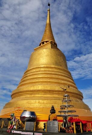 Golden Mountain in Bangkok, Thailand Stock Photo