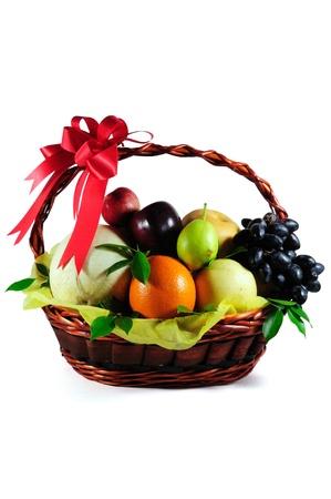 canasta de frutas: Frutas Foto de archivo