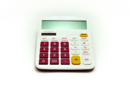 Calculator  isolated on white background Stock Photo
