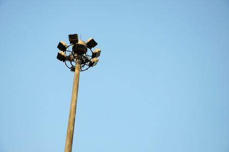 Spot-light on blue sky