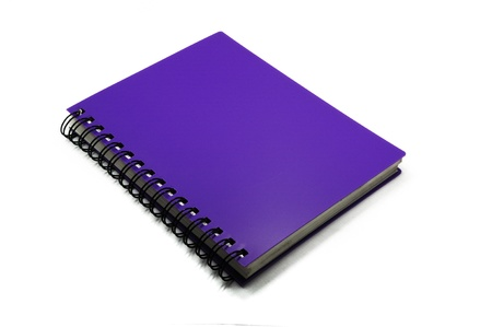 purple notebook isolated on white background Stock Photo