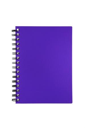 purple notebook isolated on white background Stock Photo