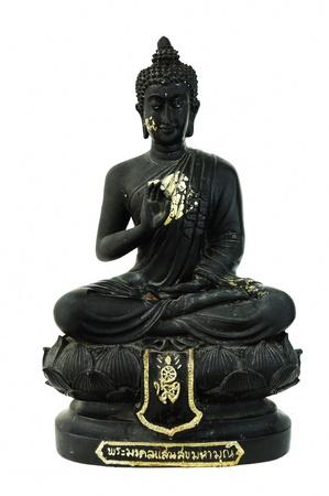 Old Buddha statue isolated on white background