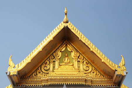 top part of traditional thai style architecture