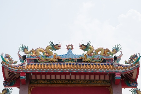 traditional chinese style architecture, thailand