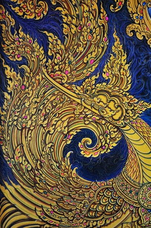 Traditional Thai style painting. This is traditional and generic style in Thailand. No any trademark or restrict matter in this photo. photo