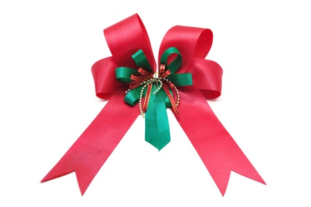 Red Ribbon Isolated on white background Stock Photo - 10945631