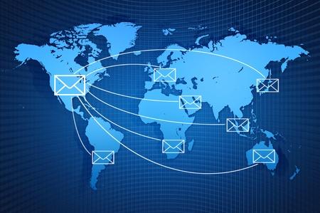 World wind Mail communication