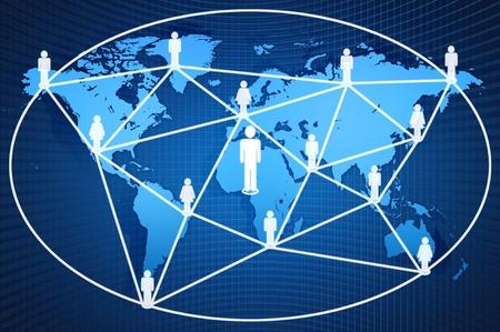 сеть: социальная сеть на карте мира Фото со стока