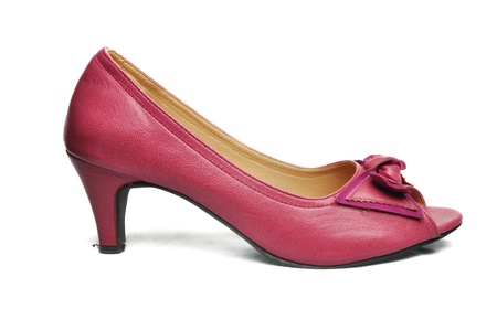Pink woman shoe isolated on white background Stock Photo