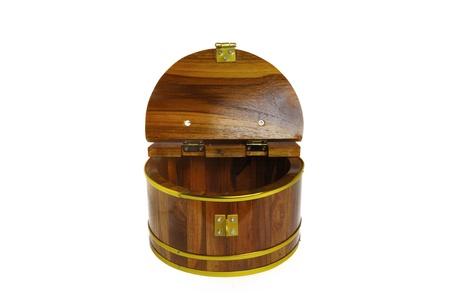 stash: wooden box isolated on white background