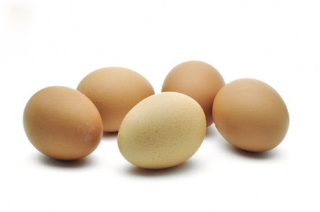 eggs are isolated on a white background Stock Photo - 15219314