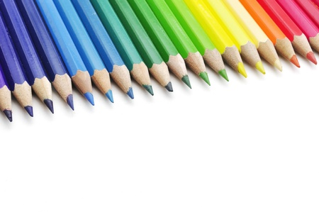 color pencils isolated on white background Stock Photo - 15219320