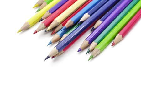 color pencils isolated on white background Stock Photo - 15219318