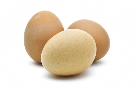 eggs are isolated on a white background