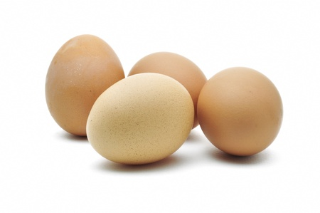 eggs are isolated on a white background Stock Photo - 15219237