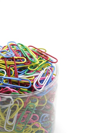 Paperclips isolated on white blackground Stock Photo